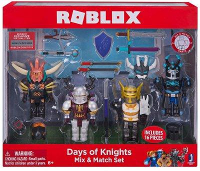 Набор игровых фигурок Roblox Jazwares коллекционных Mix &Match Set Days of Knights 8 см 4 шт (10873R)