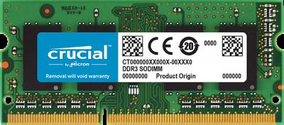 Оперативна пам'ять Crucial DDR3 SO-DIMM 8Gb 1600 C11 1.35 v (CT102464BF160B)