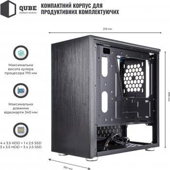 Корпус QUBE Style Black (QBC3M_WBNU3)