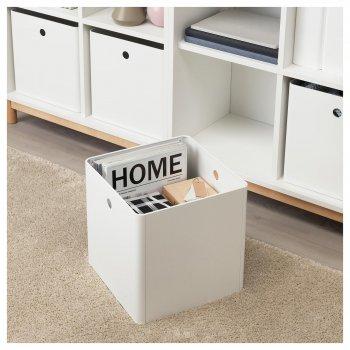 Коробка IKEA (ІКЕА) KUGGIS 30х30х30см біла (603.949.47)