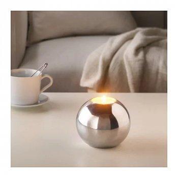 Набір ароматичних свічок IKEA (ІКЕА) SINNLIG 12 шт ніжна ваніль бежевий (103.373.13)