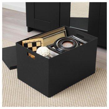 Коробка с крышкой IKEA (ИКЕА) TJENA 35x50x30см черная (103.743.48)