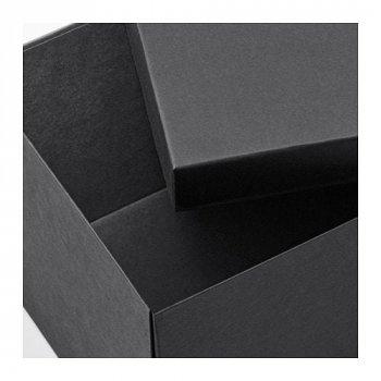 Коробка з кришкою IKEA (ІКЕА) TJENA 18х25х15см чорний (603.954.85)