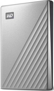 """Накопичувач зовнішній HDD 2.5"""" USB 2.0 TB WD My Passport Ultra Silver (WDBC3C0020BSL-WESN)"""