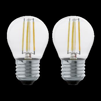Світлодіодна лампа Eglo 11506 E27 LED G45 (2 шт в наборі) 4W 2700K