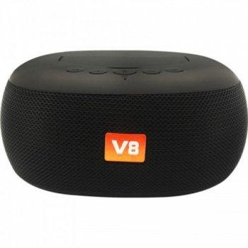 Портативна Bluetooth колонка з підставкою для телефону BRT V8 Чорна (47776)