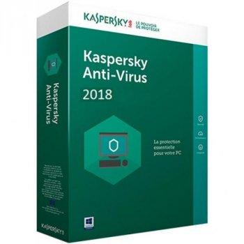 Антивірус Kaspersky Anti-Virus 2018 1 ПК 1 year Base Box (DVD-Box) (5060486858101)