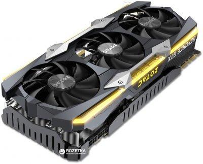 Zotac PCI-Ex GeForce GTX 1080 Ti AMP Extreme 11GB GDDR5X (352bit) (1645/11200) (DVI, HDMI, 3 x DisplayPort) (ZT-P10810C-10P)