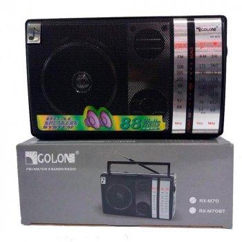 Радіоприймач всехвильовий колонка магнітофон Golon RX-M70 з Bluetooth