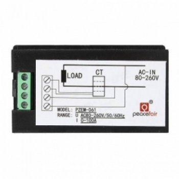 Амперметр Вольтметр ватметр XK цифровий AC 80-260В 99.9 А 0-22кВт, LED