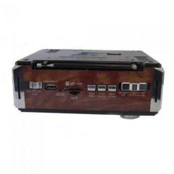 Портативний радіо приймач ТРМ RX-722LED коричневий (45077)