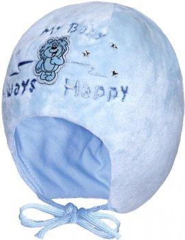 Зимняя шапка с завязками David's Star 5022 44 см Голубая (ROZ6400028396)