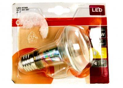 LED STAR R63 60 36 ° E27 лампа OSRAM прозорий-сріблястий M18-220015