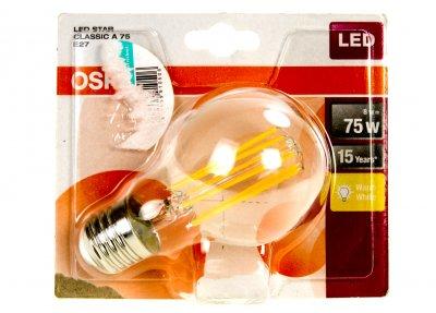 LED STAR CLASSIC A 75 E27 лампа OSRAM прозорий-сріблястий M18-220014