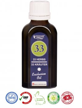 Натуральное швейцарское эфирное масло 33 травы Mint VIVASAN Original 50мл концентрат 100% GMP Sertified Paraben free
