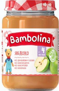 Упаковка пюре Bambolina Яблуко 190 г х 12 шт. (4813163001953)