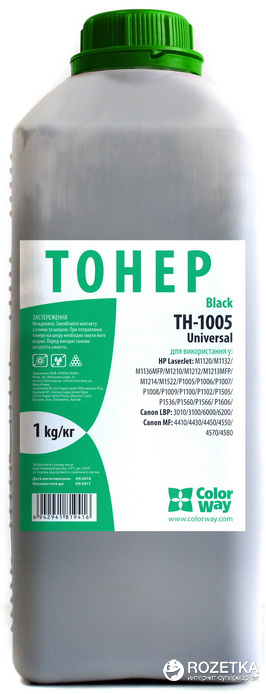 Тонер ColorWay HP LJ P1005/P1505 Universal Bottle 1 кг (TH-1005-1B)