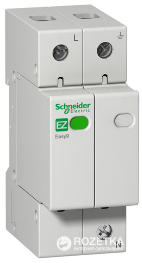ПЗІП Schneider Electric 1 Р+N 20 кА 10 кА 1.3 кВ EZ9