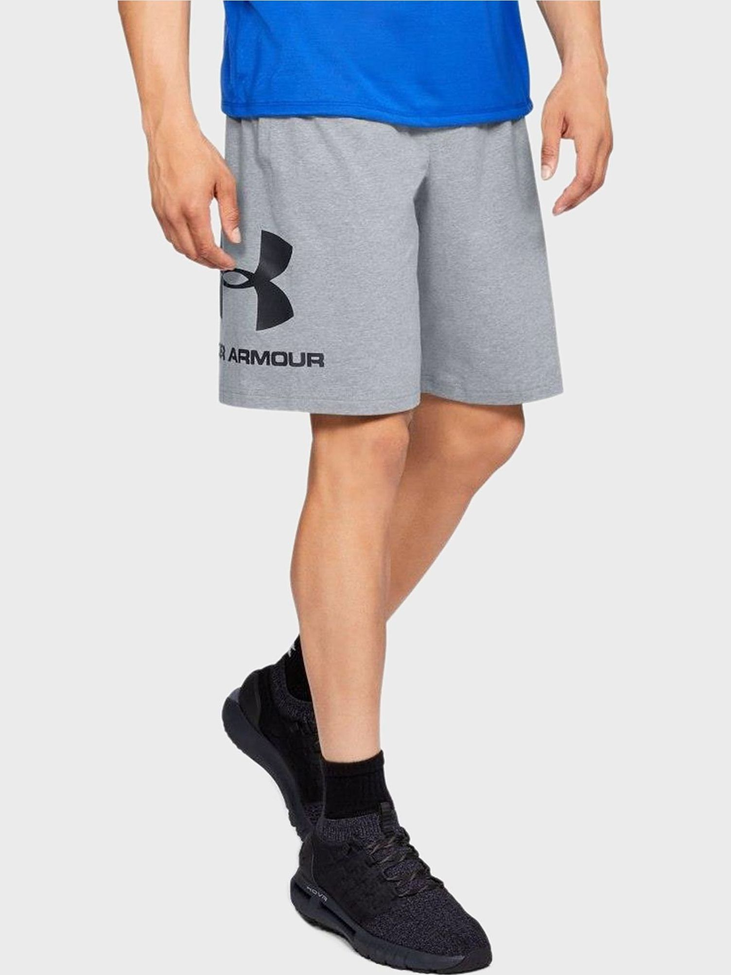 Шорты Under Armour Ua Sportstyle Cotton Shorts-Gry 1329300-035 L Серые (192006921134)
