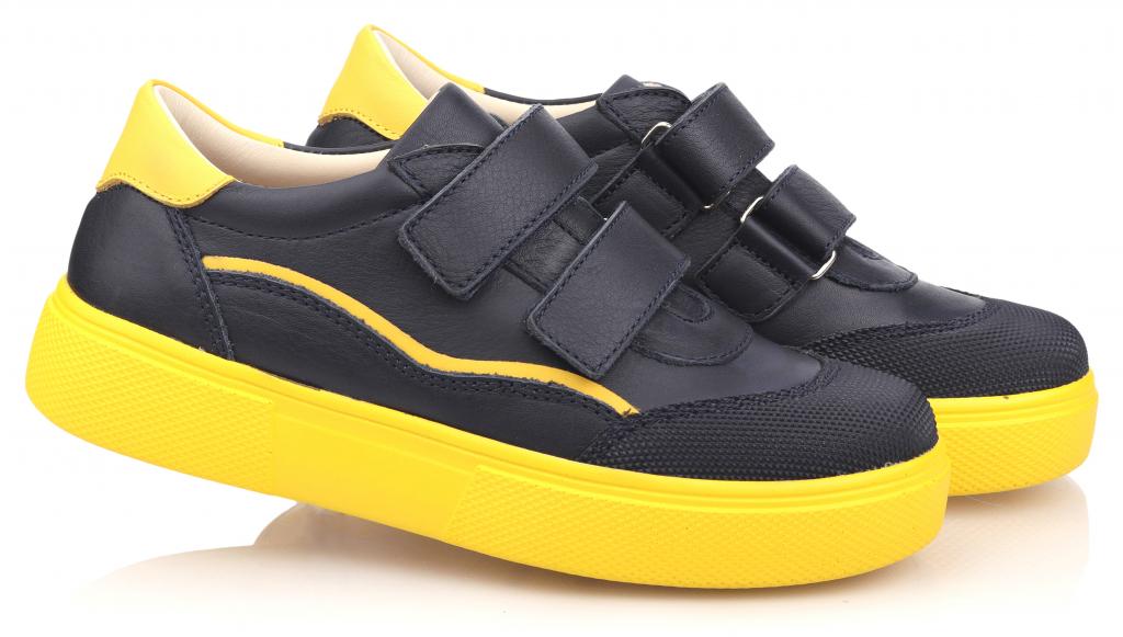 Topitop / Кроссовки TOPITOP 2328 для мальчиков сине-желтые. Размер 31