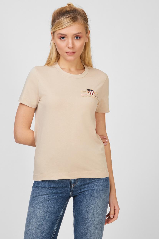 GANT / Женская бежевая футболка ARCHIVE SHIELD Gant XS 4200417