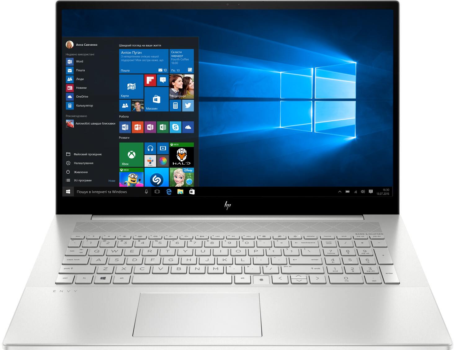 Ноутбук HP Envy 17-cg1005ur  Silver