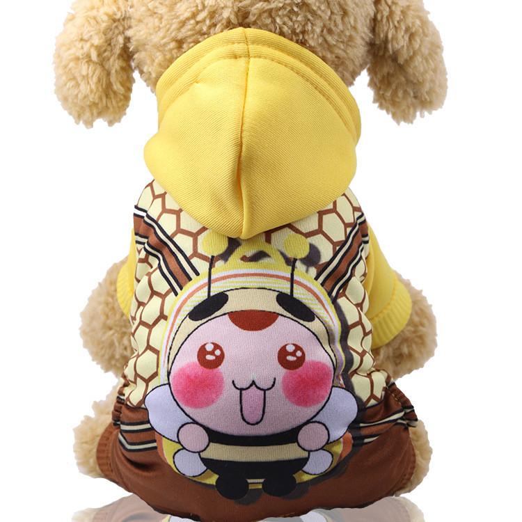 Спортивный костюм для собак Alfa Пчелка S Желто-коричневый