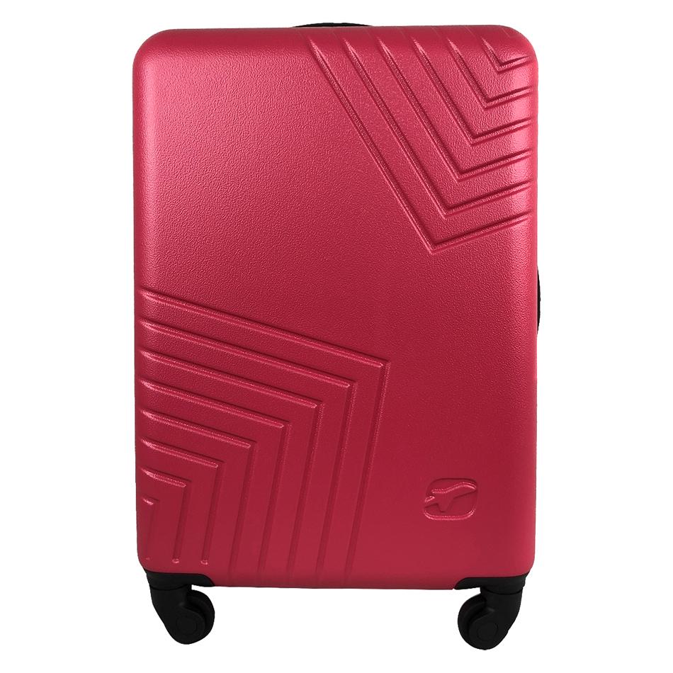 Чемодан Airport DISCO розовый, 4 колеса, 70 см
