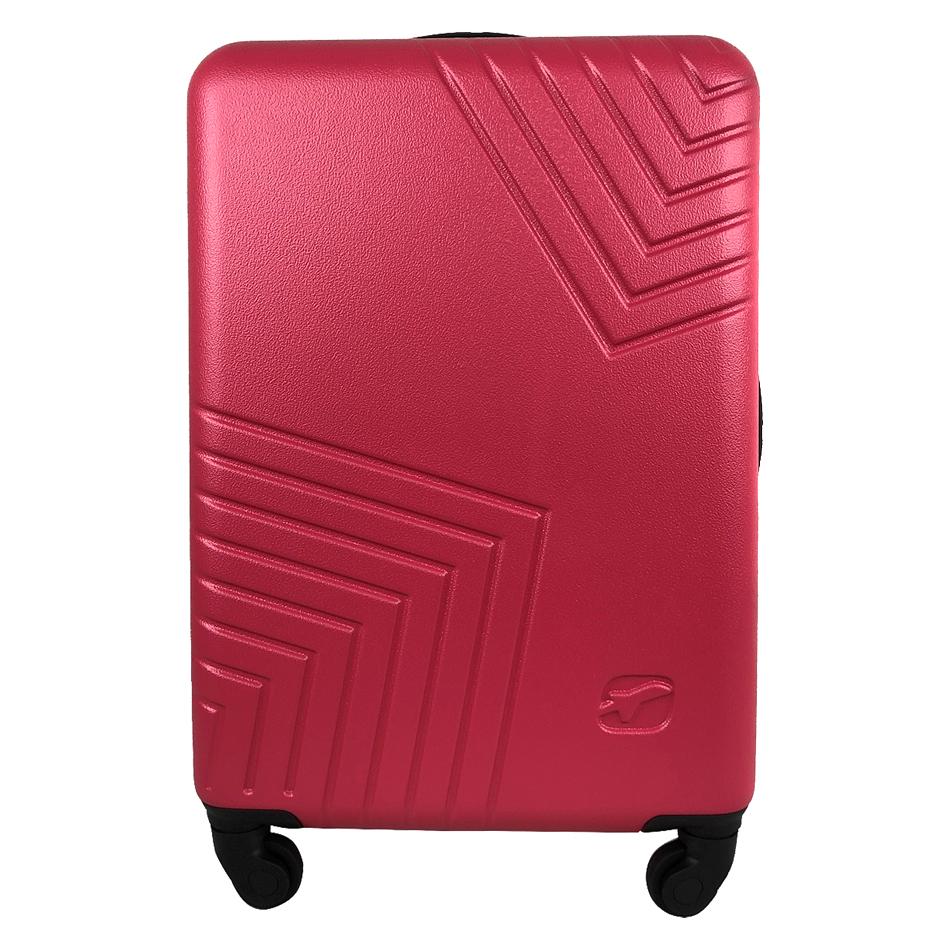 Чемодан Airport DISCO розовый, 4 колеса, 50 см