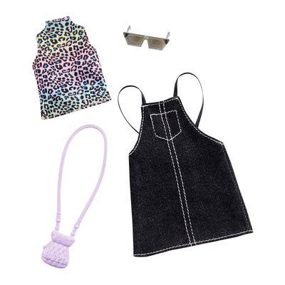 Одежда Barbie Одень и иди водолазка и джинсовый сарафан (FYW85/GHW74) (10-553896)