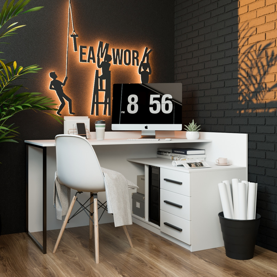 Офисный стол Fenster Флеш Белый 80x140x100