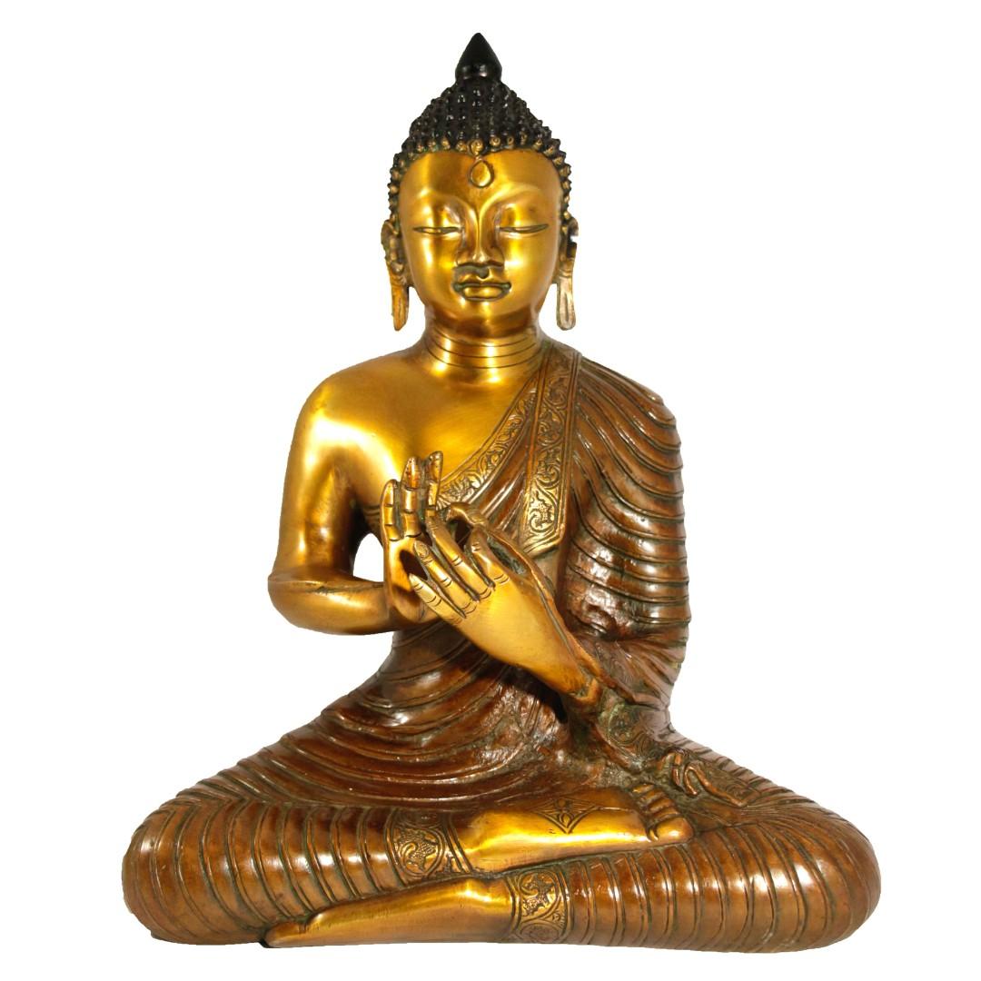 Большой бронзовый Будда символ богатства и счастья арт 27011