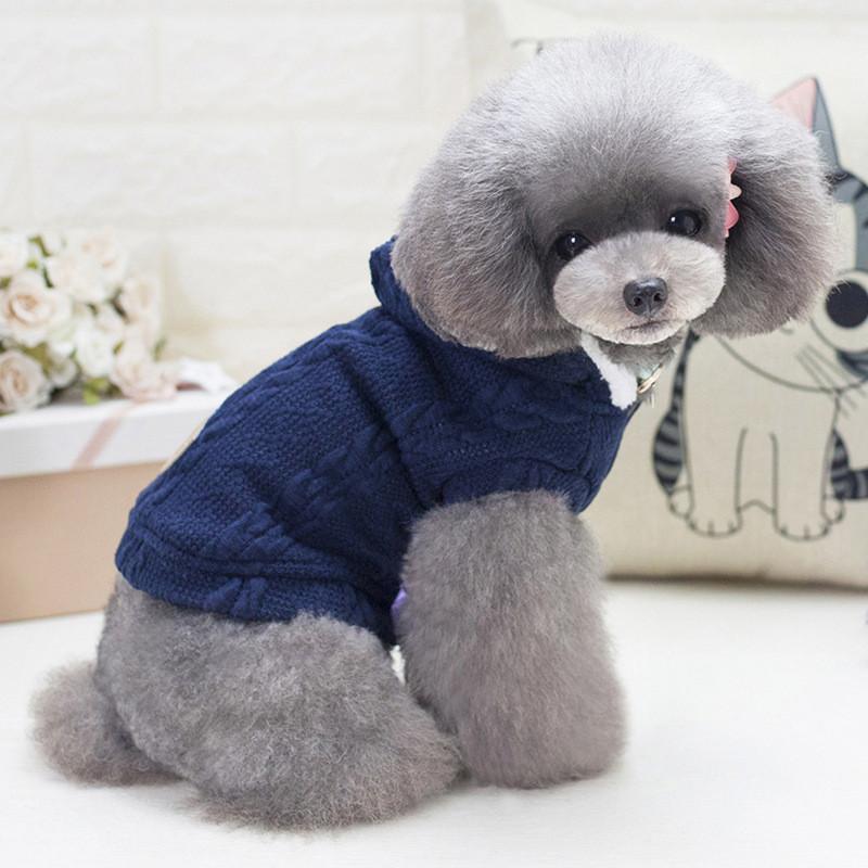 Кофта для собак с капюшоном Dog Baby EST.1978 Dark Blue L (SKU_6221-20551)