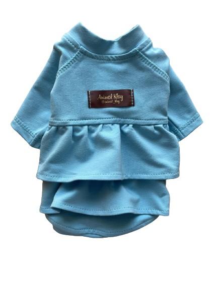 Платье худи для собак AnimalKlay Зефирка XS2 Голубое