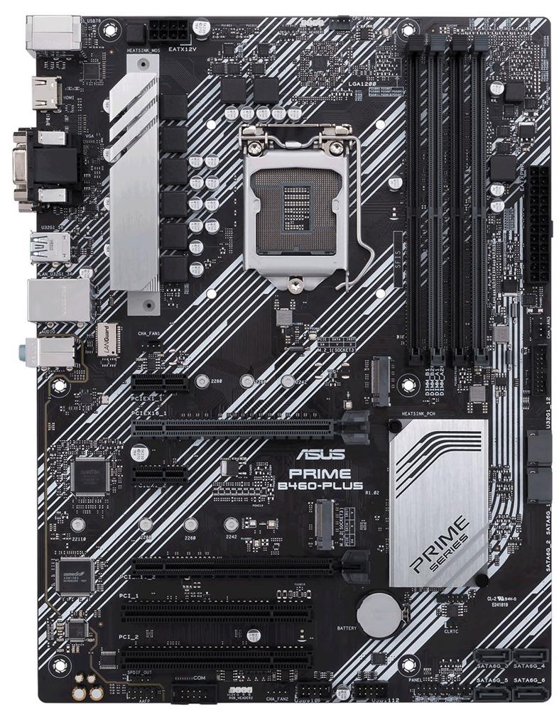 Материнська плата Asus Prime B460-Plus (s1200, Intel B460, PCI-Ex16)