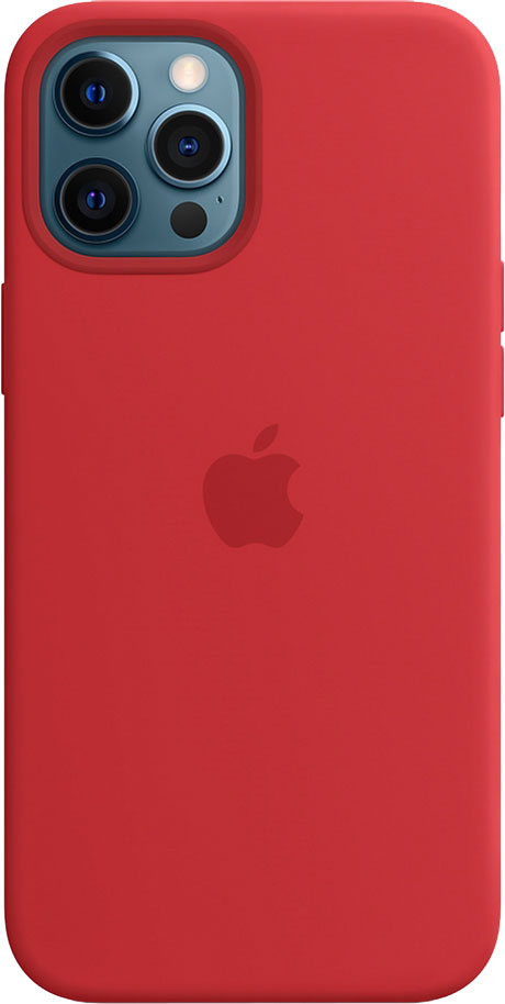 Панель Apple MagSafe Silicone Case для Apple iPhone 12 Pro Max Red (MHLF3ZE/A)