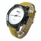 Мужские часы Skmei 1208 Yellow Leather BOX (1208BOXYL) - изображение 2