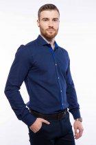 Рубашка мужская с мелким принтом Time of Style 204P1163 L Чернильно-голубой - изображение 3
