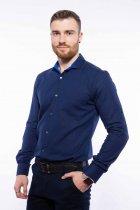 Рубашка мужская с мелким принтом Time of Style 204P1163 XXL Чернильно-голубой - изображение 4