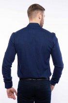 Рубашка мужская с мелким принтом Time of Style 204P1163 XXL Чернильно-голубой - изображение 5