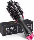 Фен-расческа 3 в 1 стайлер для укладки волос браш One Step Blower Brush 1000 Вт Black - изображение 7
