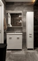 Зеркало JUVENTA Brooklyn BrM-65 85х65 см с LED-подсветкой белое - изображение 3