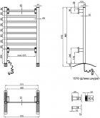 Полотенцесушитель электрический QTAP Arvin 32708 SIL - изображение 6