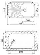 Кухонна мийка TEKA STYLO 1B 1D декор 10107043 - зображення 3