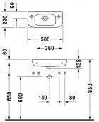 Раковина DURAVIT D-Code 070650 левостороння - зображення 4