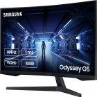 "Монітор 27"" Samsung Odyssey G5 LC27G54T Black (LC27G54TQWIXCI) + DisplayPort и HDMI кабель - зображення 3"