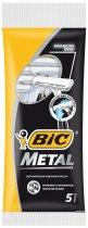 Набор бритв без сменных картриджей BIC Metal 5 шт (3086125705416) - изображение 1