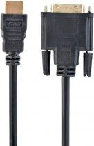Кабель Cablexpert HDMI - DVI 18+1pin 7.5 м (CC-HDMI-DVI-7.5MC) - зображення 1