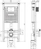 Инсталляция KOLLER POOL Alcora ST1200 + панель смыва Round White + подвесной унитаз Round RN-0520-RW с сиденьем Soft Close - изображение 6