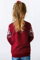 Светр Різдвяний з оленями дівчинці FLEUR Lingerie 104 бордовий - зображення 3